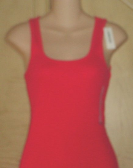 NWT Ladies OLD NAVY TANK TOP Long Layering Tee CORAL Small 4/6 Cotton