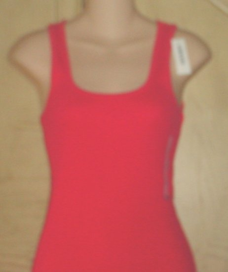 NWT Misses OLD NAVY TANK TOP Long Ribbed Scoop Neck Tee XXL (20) HOT PINK