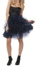 NEW ZAC POSEN RUFFLED TUTU DRESS Size 11 BLACK/BLUE Party Cocktail Occasion