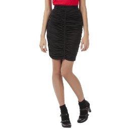 NWT ZAC POSEN RUCHED PENCIL SKIRT Ladies Size XS BLACK Zipper Detail