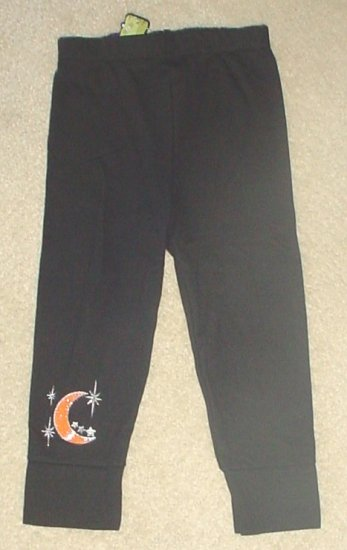 NEW Infant HALLOWEEN LEGGINGS Stretch Pants 12 MONTHS Black