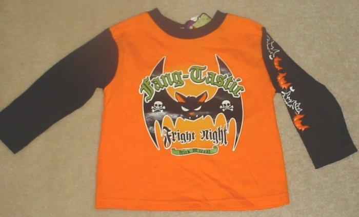 NEW Infant HALLOWEEN TOP Long Sleeve T-Shirt 24 Months BLACK/ORANGE
