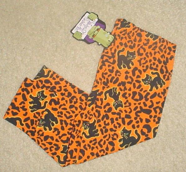 NEW Infant HALLOWEEN LEGGINGS Stretch Cat Print Pants 12 MONTHS
