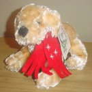 NWT PLUSH PUPPY Holiday Stuffed Animal with MUFFLER Toy Gift