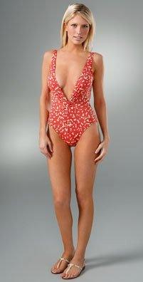 New DIANE VON FURSTENBERG SWIMSUIT One Piece Swimwear LARGE Mosaic Print
