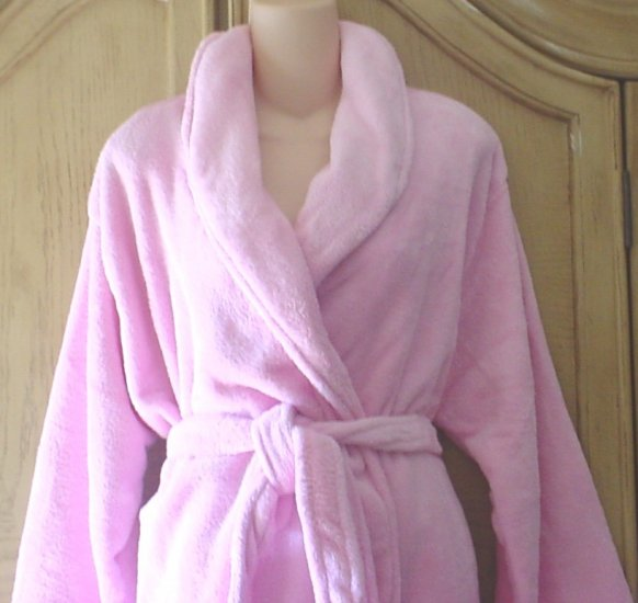 NEW Ladies PLUSH SPA BATH ROBE Rose Pink ONE SIZE FITS ALL