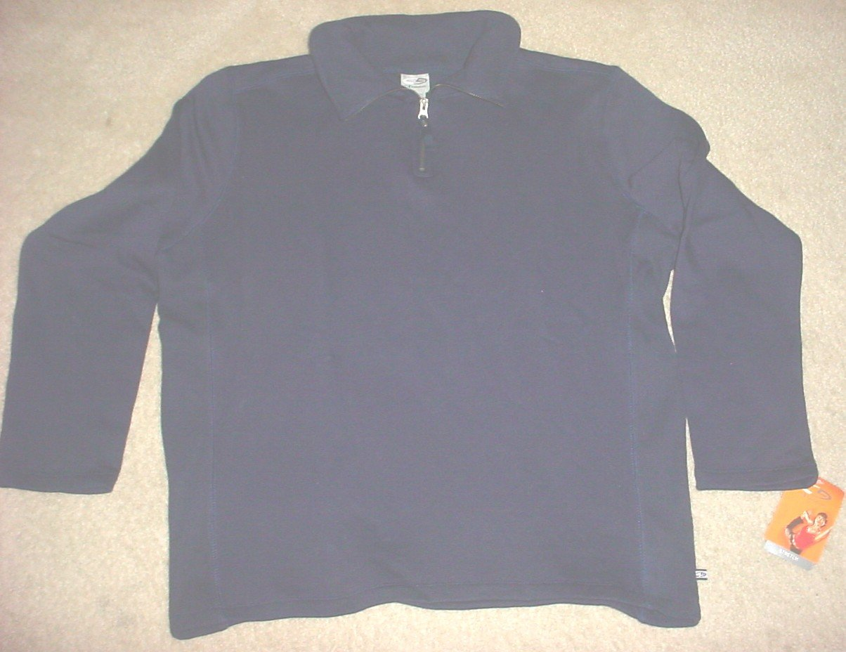 Ladies CHAMPION SWEATSHIRT Workout Top XL 16/18 NAVY BLUE