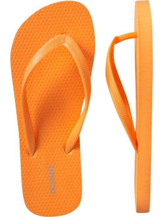NEW Old Navy FLIP FLOPS Thong Sandals SIZE 10 ORANGE Shoes