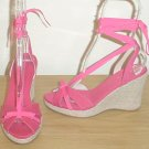 NEW Unisa PLATFORM ESPADRILLES Ankle-Tie Shoes SIZE 7.5 PINK Sandals