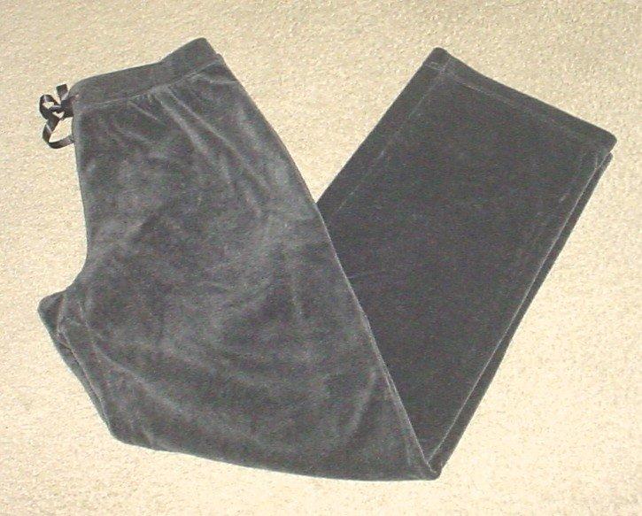 Croft & Barrow VELOUR SWEAT LOUNGE PANTS Size 6/8 SMOKY GRAY