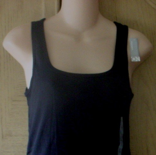 NWT Misses OLD NAVY PERFECT TANK TOP Ribbed Tee XXL (20) BLACK