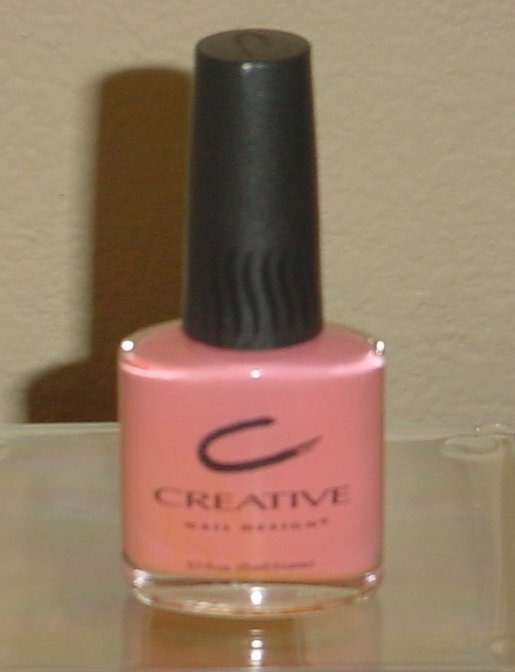CREATIVE NAIL DESIGN POLISH Strawberry Shortcake Color #277 Creme Nail Lacquer 1/2 oz