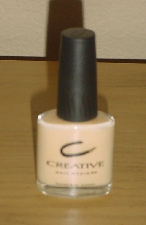 CREATIVE NAIL DESIGN POLISH Negligee Color # 195 1/2 oz CREME NAIL LACQUER