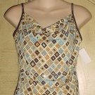 NEW Juniors SEQUINED CAMISOLE TOP Size MEDIUM Blouse MULTICOLOR