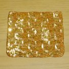 NEW Pierre Urbach SILK SEQUIN PURSE Evening Bag GOLD Silk Lined