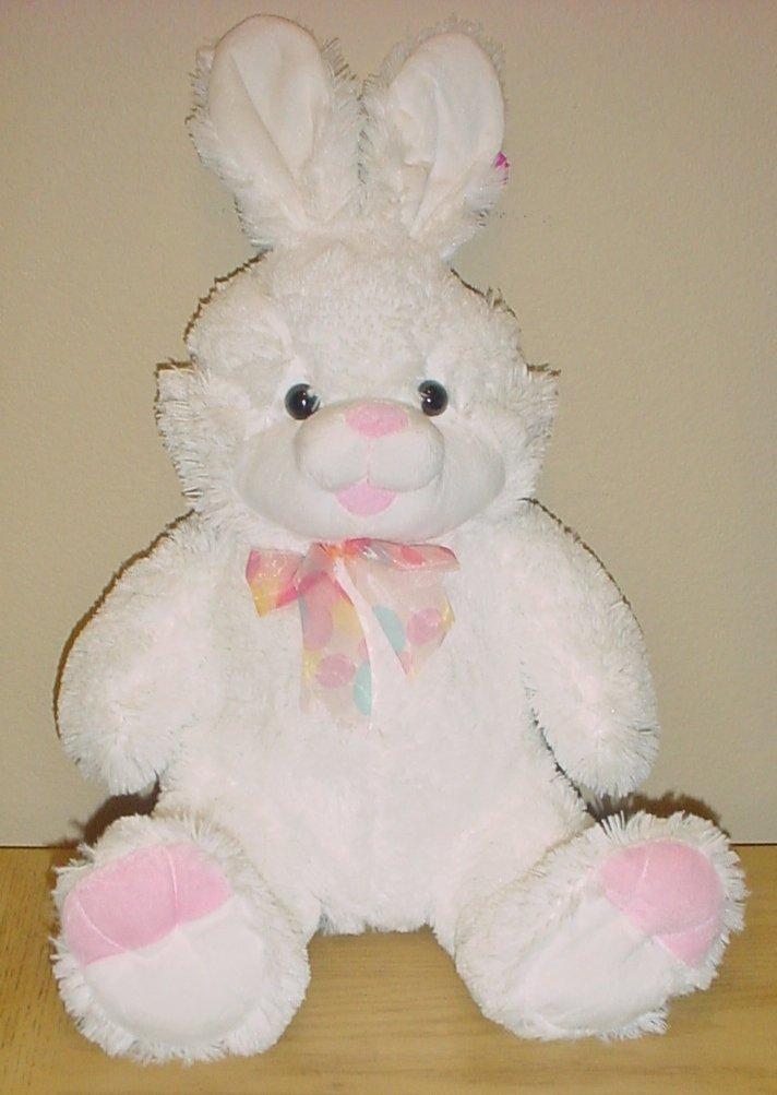 "New LARGE PLUSH BUNNY Stuffed Animal WHITE Toy Gift Decor 17"" Tall"