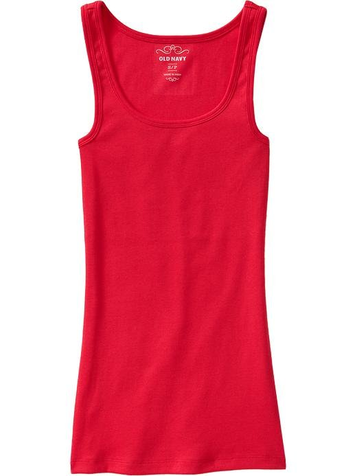 NEW Ladies OLD NAVY PERFECT TANK TOP Ribbed Tee CORAL RED XS Cotton
