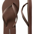 NEW Ladies FLIP FLOPS Old Navy Thong Sandals SIZE 9 BROWN Shoes Pool Beach