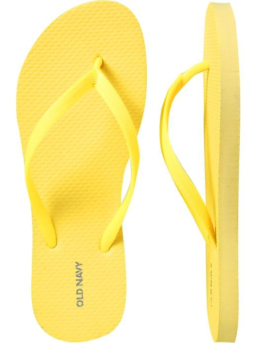 NEW Old Navy FLIP FLOPS Womens Thong Sandals SIZE 10 YELLOW Shoes