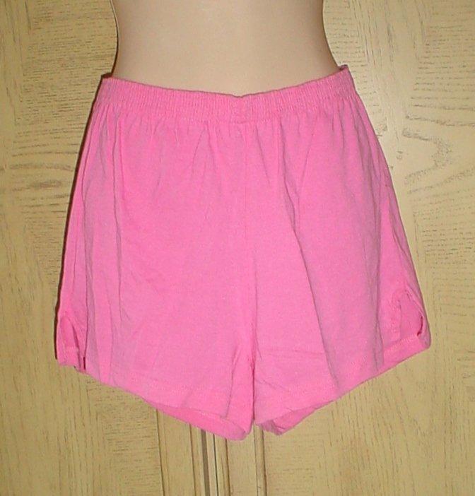NWT Ladies ATHLETIC CHEER GYM DANCE SHORTS Point Sportswear MEDIUM Pink