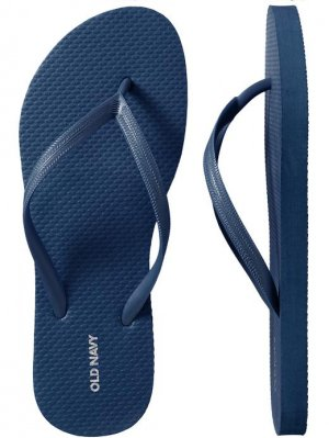 NEW Old Navy FLIP FLOPS Ladies Thong Sandals SIZE 11 NAVY BLUE Shoes casual pool beach