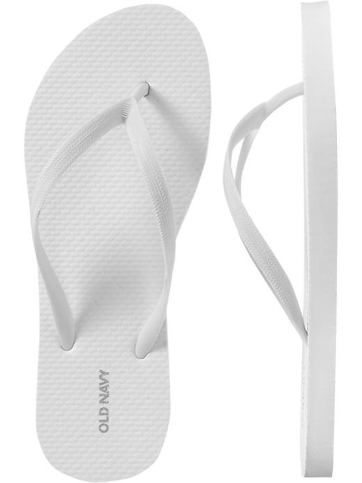 NEW LADIES Old Navy FLIP FLOPS Thong Sandals SIZE 8M WHITE Shoes