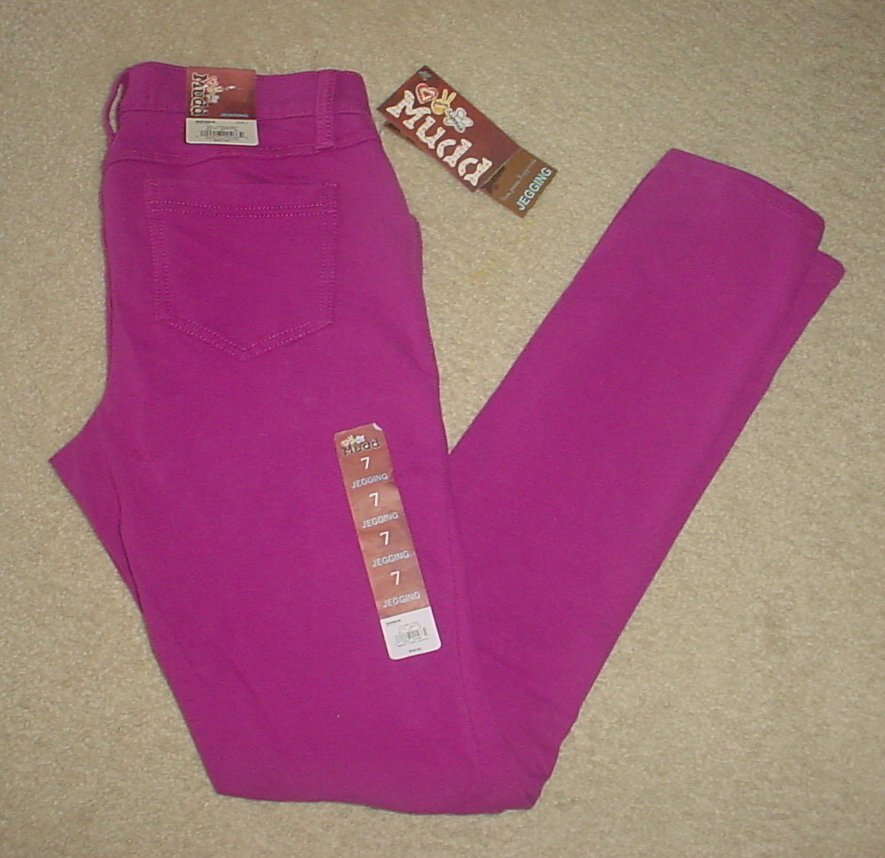 NEW Juniors MUDD JEGGINGS Stretch Skinny Pants Jeans SIZE 7 PURPLE