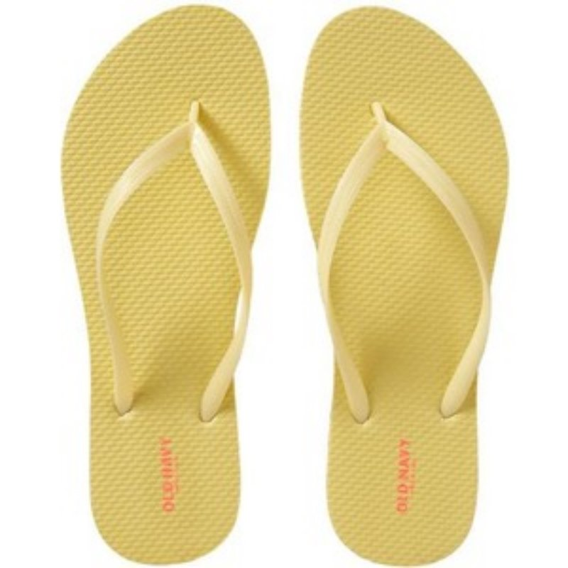 NEW Ladies FLIP FLOPS Old Navy Thong Sandals SIZE 7M (37) YELLOW Shoes
