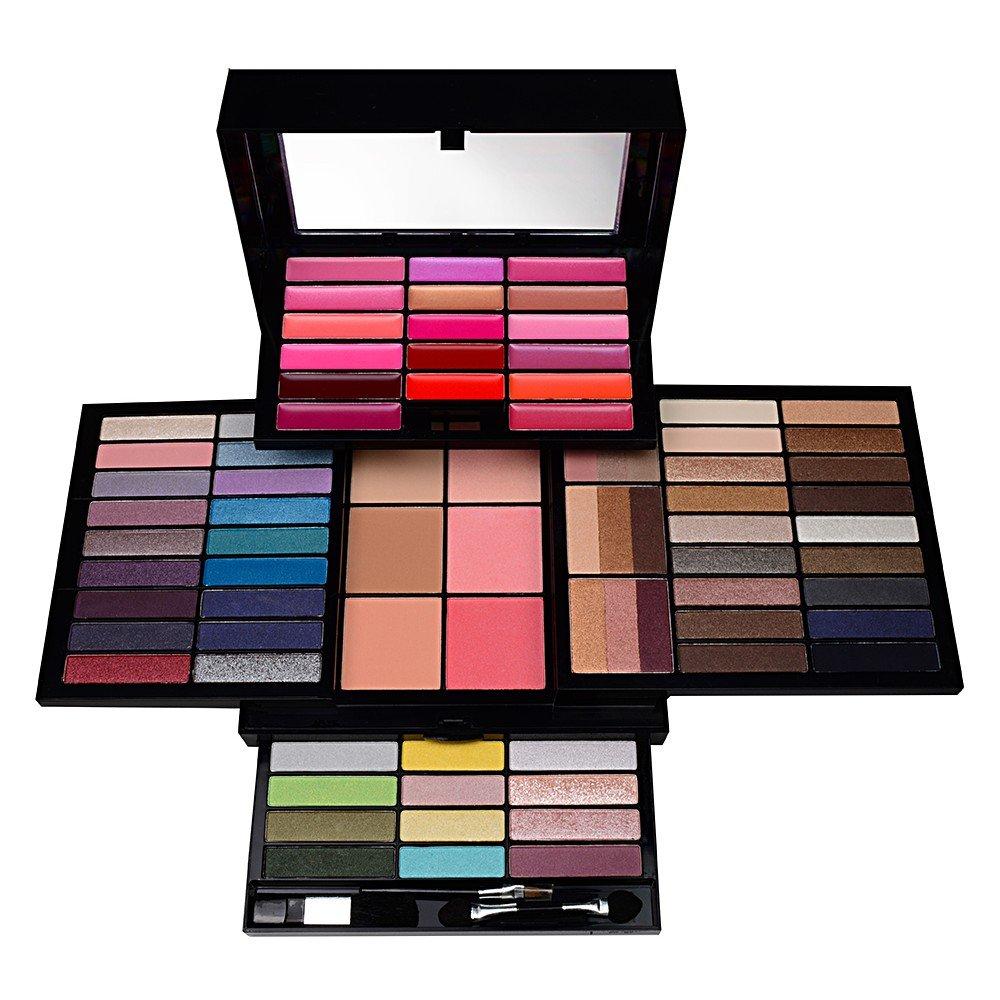 NIB Profusion MAKE UP KIT Multi Tier 80 PC Shadow,Blush,Gloss,Powder