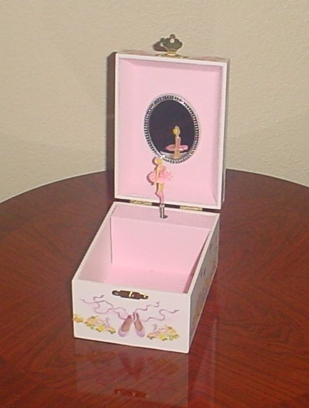 New GIRLS MUSICAL Mini JEWELRY BOX Dancing Ballerina Keepsake Trinket GIFT