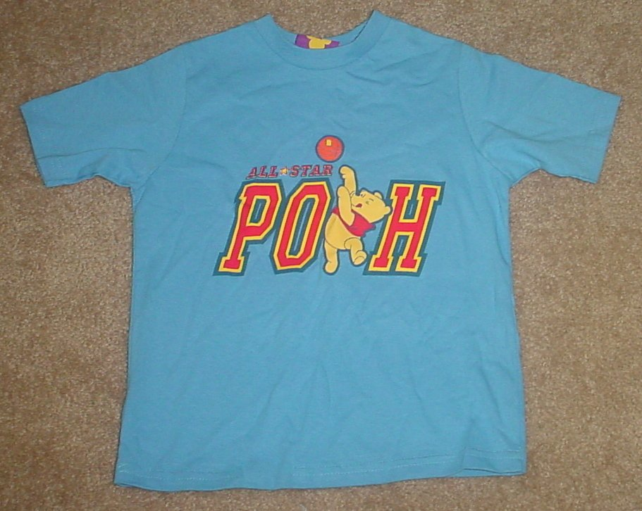 NEW Disney POOH T-SHIRT Toddler Graphic Tee SIZE 4T BLUE Cotton