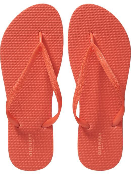 New LADIES Old Navy FLIP FLOPS Thong Sandals SIZE 7 ORANGE Shoes
