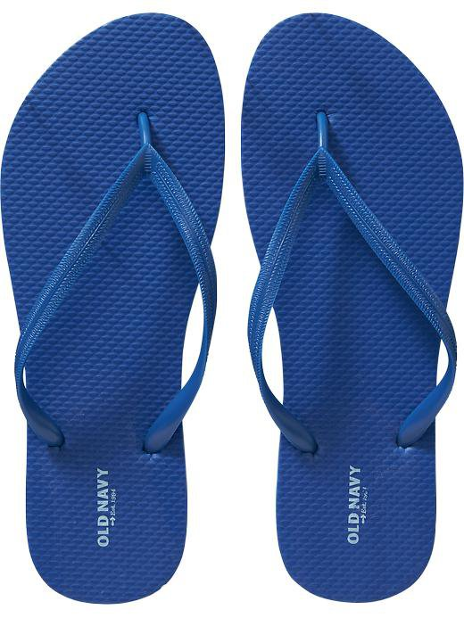 New LADIES Old Navy FLIP FLOPS Thong Sandals SIZE 10M ROYAL BLUE Shoes