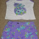 NWT Girls SHORT SET 2 Piece SIZE 4/5 Tank Top+ Board Shorts PURPLE