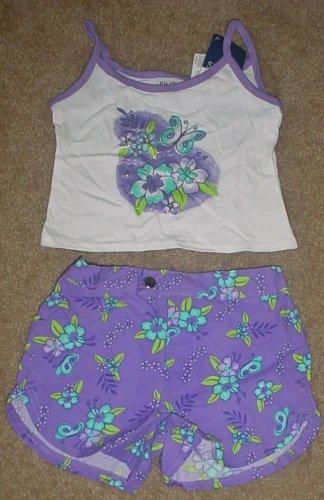 NWT Girls SHORT SET 2 Piece SIZE 4/5 Tank Top+ Board Shorts PURPLE