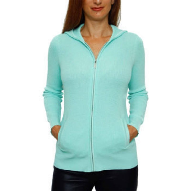 NWT Ladies SWEATER Cyrus Zip Front Hooded Cardigan XL PISTACHIO GREEN w/Pockets