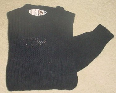 NWT MENS Weekends SWEATER Crew Neck Pullover LARGE 100% Cotton BLACK