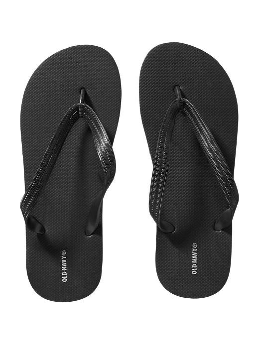NWT MENS Old Navy FLIP FLOPS Classic Thong Sandals SIZE 12-13 BLACK Shoes
