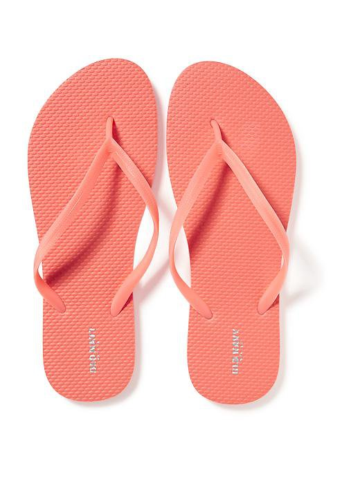 NEW Womens Old Navy FLIP FLOPS Thong Sandals SIZE 7M CORAL Shoes
