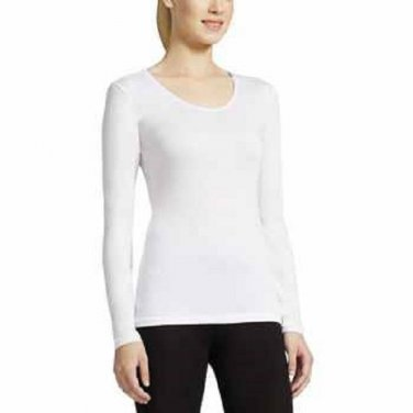 NEW Womens WEATHERPROOF TOP 32 Degrees Base Layer XL WHITE Long Sleeve
