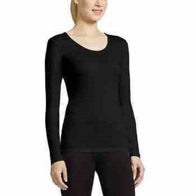 NEW Womens WEATHERPROOF TOP 32 Degrees Base Layer XL BLACK Long Sleeve