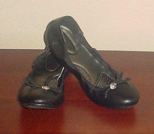 NIB Ladies BALLET FLATS Deflex Comfort Shoes SIZE 11M BLACK