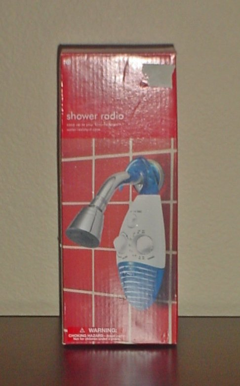 New SHOWER RADIO Hanging Water resistant case AM/FM Battery Operated GIFT