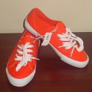 NWT Ladies SNEAKERS Old Navy Shoes SIZE 9M Canvas ORANGE