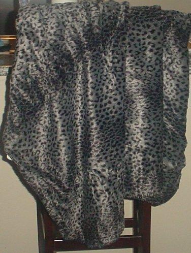 New FUR THROW Plush Ultra Warm Home Decor 50x68 Leopard Print GRAY/BLACK Washable