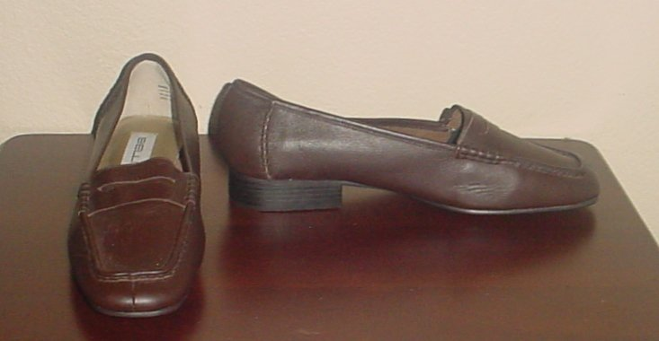 NEW Ladies LOAFERS Bellini Shoes SIZE 11 WIDE BROWN Leather