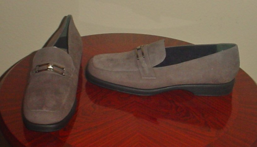 NEW Worthington SUEDE BIT LOAFERS Ladies Shoes SIZE 11 M GRAY Slip-ons
