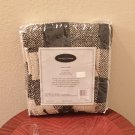New CHENILLE TROW Brentwood Originals Home Decor 50x60 BLACK/CREAM