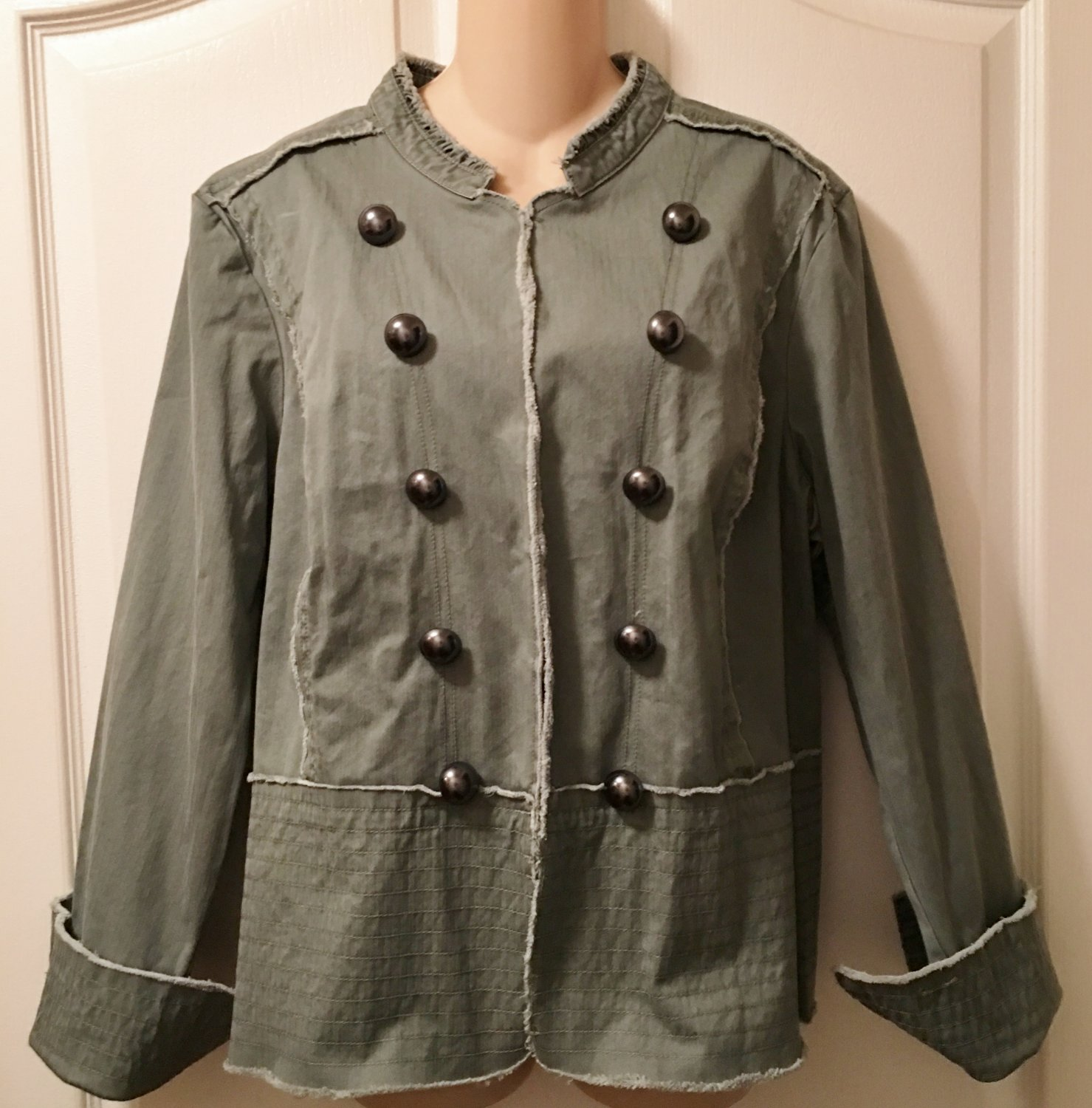 NWT Ladies MILITARY JACKET Old Navy XXL OLIVE GREEN Cotton