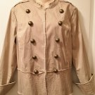 NEW Ladies MILITARY JACKET Old Navy XXL KHAKI TAN Cotton